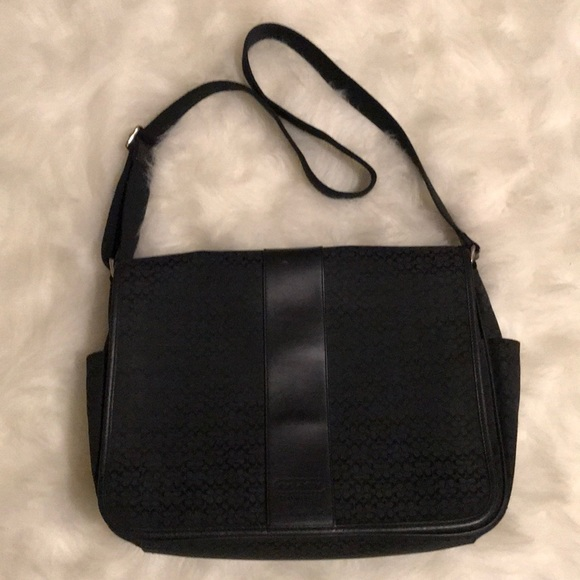 aab4abf2feac Coach Handbags - Coach black messenger diaper bag